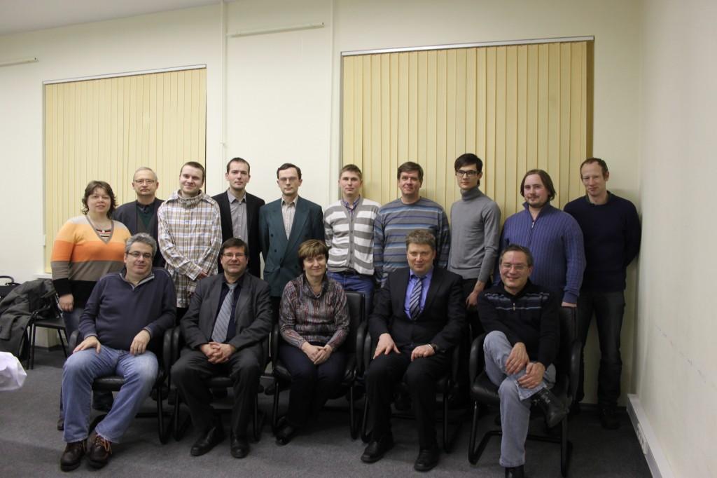 Ведущие семинара - Игорь Глек, Алексей Широв и Артурс Нейкшанс