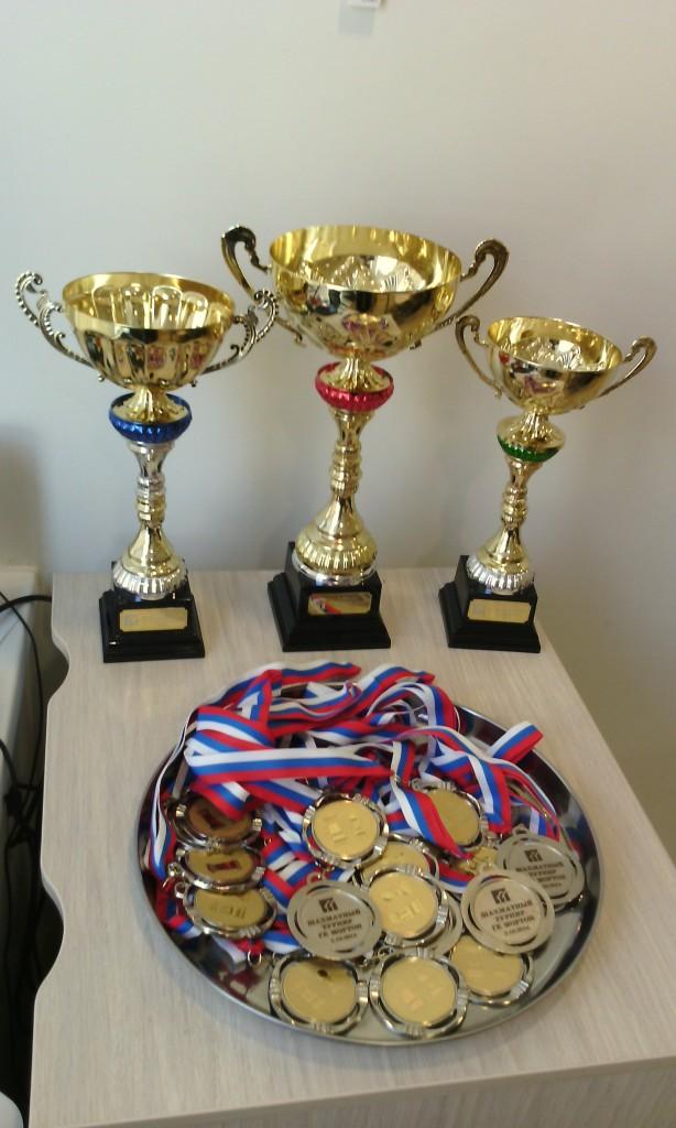 Кубки - победителям, медали - всем участникам.)