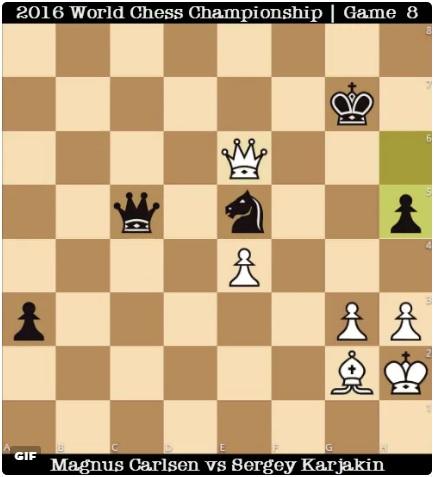 8 партия матча Карлсен Карякин 0-1