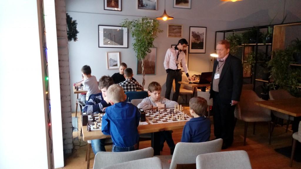 Детский шахматный турнир в кафе Северия